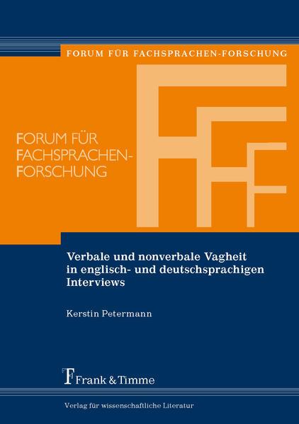 Verbale und nonverbale Vagheit in englisch- und deutschsprachigen Interviews - Coverbild