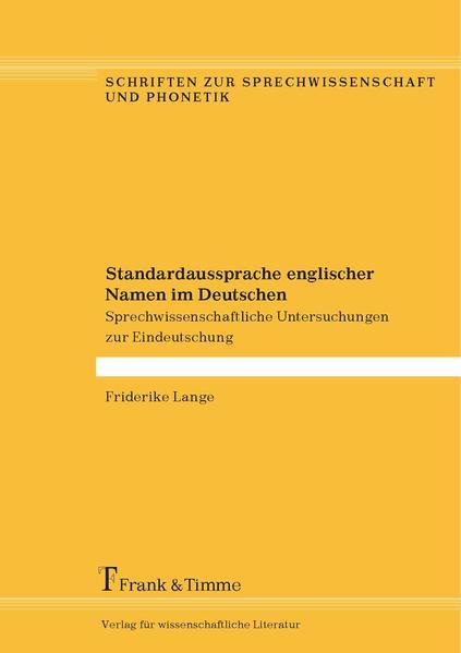 Standardaussprache englischer Namen im Deutschen - Coverbild