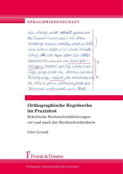 Orthographische Regelwerke im Praxistest - Coverbild