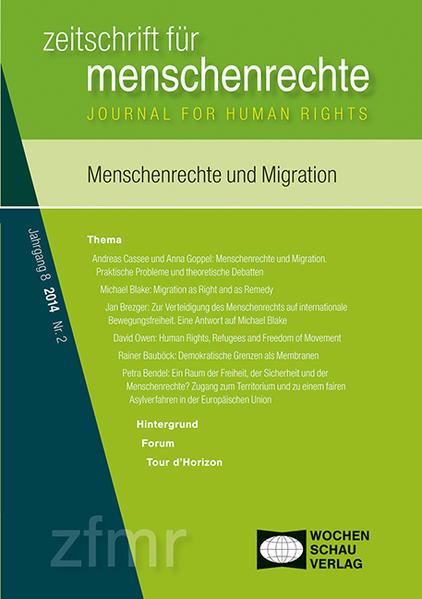 Menschenrechte und Migration - Coverbild