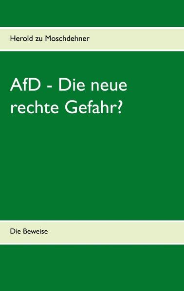 AfD - Die neue rechte Gefahr? - Coverbild