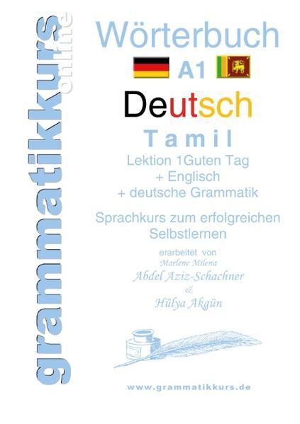 Wörterbuch Deutsch - Tamil Englisch A1 Lektion 1 - Coverbild