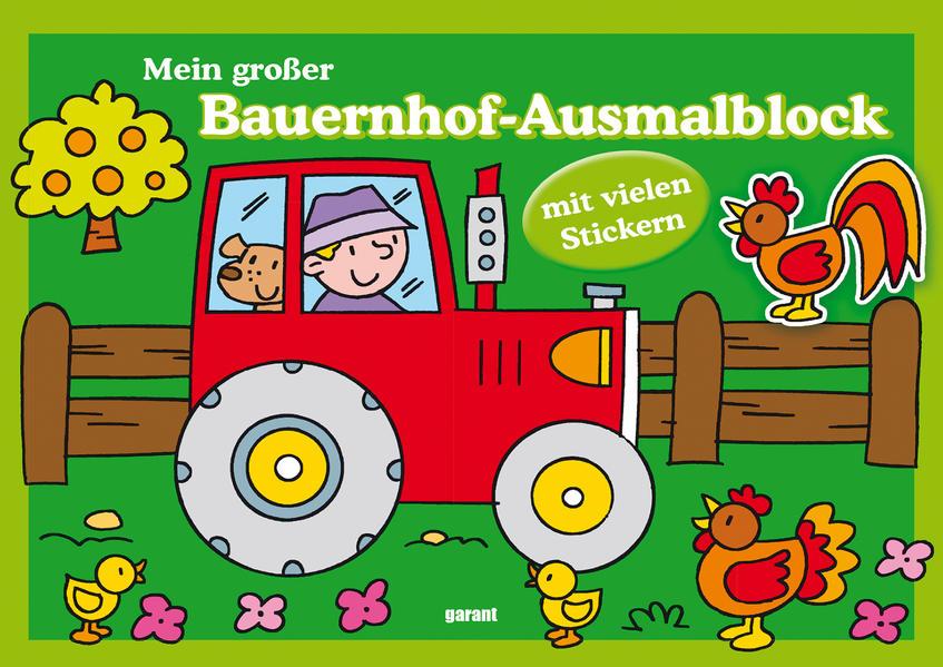 Mein großer Bauernhof-Ausmalblock - Coverbild