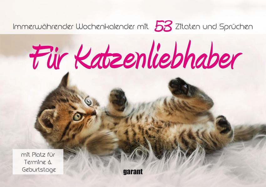 Aufstell-Spiral-Kalender Katzenliebhaber - Coverbild