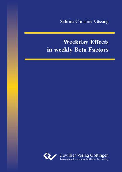 Weekday Effects in weekly Beta Factors - Coverbild