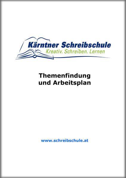 Themenfindung und Arbeitsplan - Coverbild