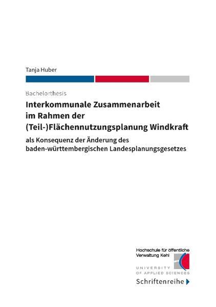 Interkommunale Zusammenarbeit  im Rahmen der  (Teil-)Flächennutzungsplanung Windkraft - Coverbild