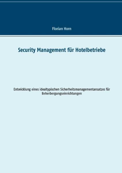 Security Management für Hotelbetriebe - Coverbild