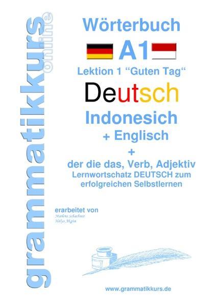 Wörterbuch Deutsch - Indonesisch - Englisch - Coverbild