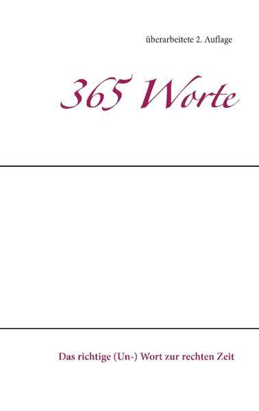 365 Worte - Coverbild