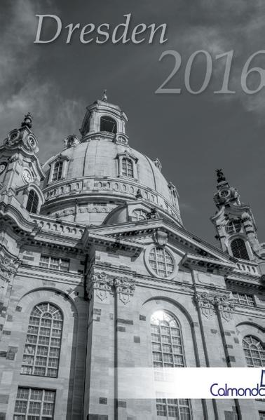 Buchkalender Dresden 2016 - Kalender / Terminplaner - 12x19cm - Spiralbindung - 31 schwarz-weiß-Aufnahmen - Coverbild