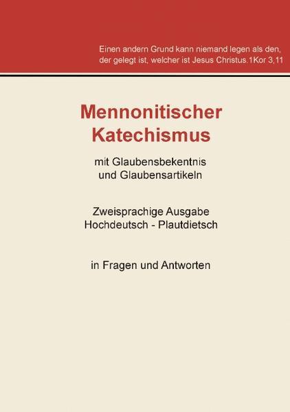 Mennonitischer Katechismus mit Glaubensbekenntnis und Glaubensartikeln - Coverbild