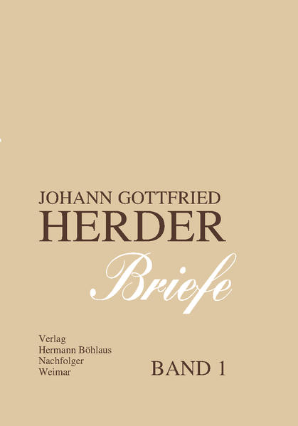 Johann Gottfried Herder. Briefe. - Coverbild