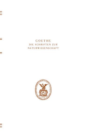Goethe. Die Schriften zur Naturwissenschaft(Leopoldina) - Coverbild