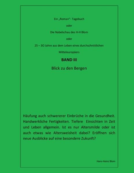 Die Nabelschau des H-H Blom - Band III - Coverbild