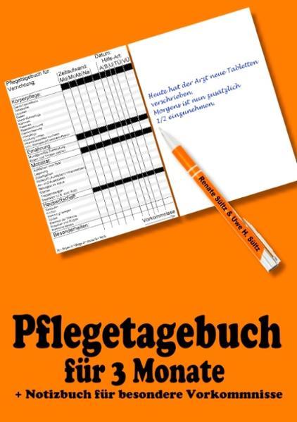 Pflegetagebuch für 3 Monate - inkl. Notizbuch - Coverbild