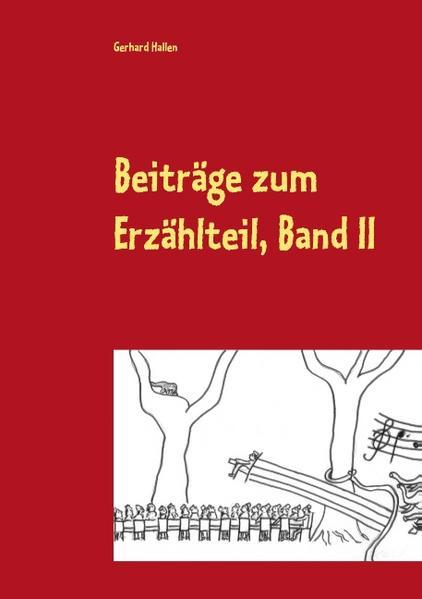 Beiträge zum Erzählteil, Band II - Coverbild