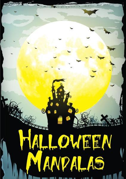 Erwachsenen Malbuch - Halloween Mandalas - Ausgabe 1 - Coverbild