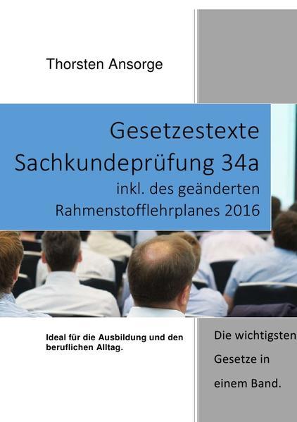 Gesetzestexte Sachkundeprüfung 34a - Coverbild