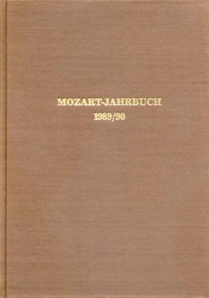 Mozart-Jahrbuch / 1989/90 - Coverbild