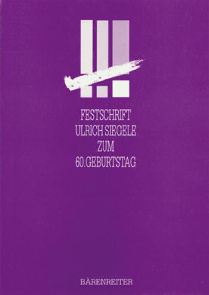 Festschrift Ulrich Siegele zum 60. Geburtstag - Coverbild