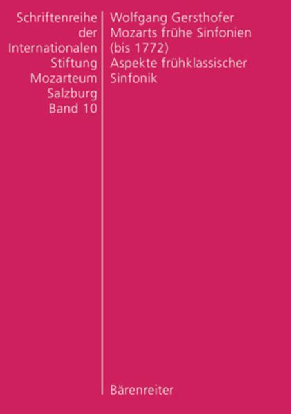 Mozarts frühe Sinfonien (bis 1772) - Coverbild
