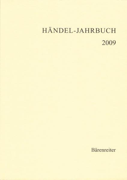 Händel-Jahrbuch / Händel-Jahrbuch - Coverbild