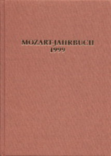 Mozart-Jahrbuch / Mozart-Jahrbuch 1999 - Coverbild