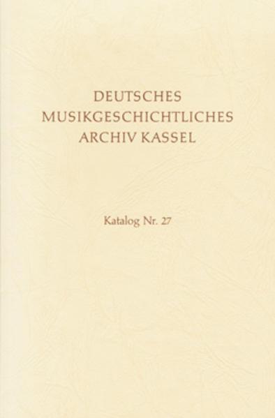 Deutsches Musikgeschichtliches Archiv. Katalog der Filmsammlung / Bd V / Sammeldrucke des 16. und 17. Jahrhunderts - Coverbild