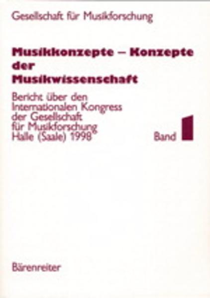 Musikkonzepte - Konzepte der Musikwissenschaft - Coverbild