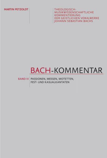 Bach-Kommentar - Band 3 - Coverbild