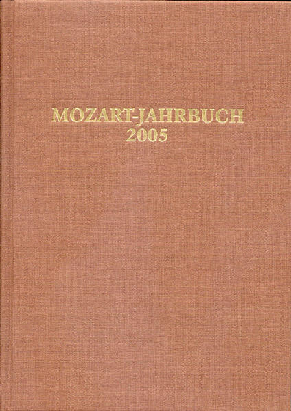 Mozart-Jahrbuch / Mozart-Jahrbuch 2005 - Coverbild