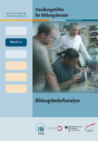 Handlungshilfen für Bildungsberater: Bildungsbedarfsanalyse - Coverbild