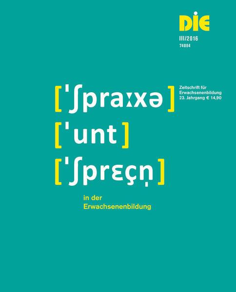 DIE Zeitschrift für Erwachsenenbildung 3/2016 Heft 3/2016 - Coverbild