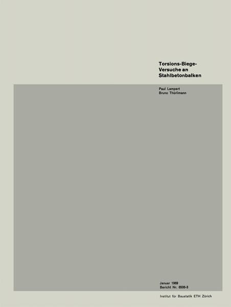 Torsions-Biege-Versuche an Stahlbetonbalken - Coverbild