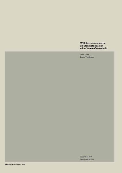 Wölbtorsionsversuche an Stahlbetonbalken mit offenem Querschnitt - Coverbild