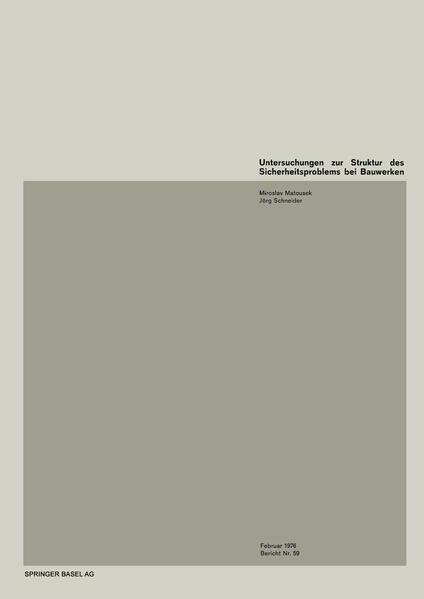 Untersuchungen zur Struktur des Sicherheitsproblems von Bauwerken - Coverbild