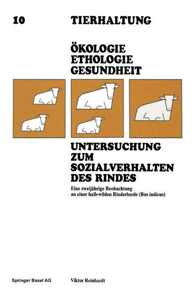 Untersuchung zum Sozialverhalten des Rindes - Coverbild