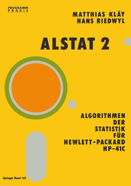 Alstat 2 Algorithmen der Statistik für Hewlett-Packard HP-41C - Coverbild