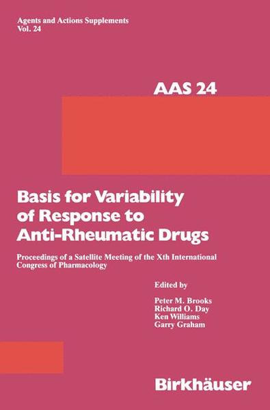 Basis for Variability of Response to Anti-Rheumatic Drugs - Coverbild
