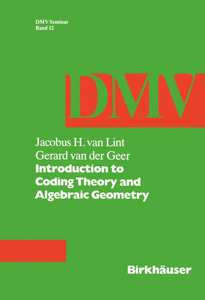 Introduction to Coding Theory and Algebraic Geometry - Coverbild