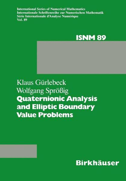 Quaternionic Analysis and Elliptic Boundary Value Problems - Coverbild