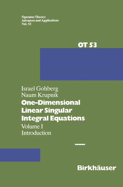 One-Dimensional Linear Singular Integral Equations - Coverbild