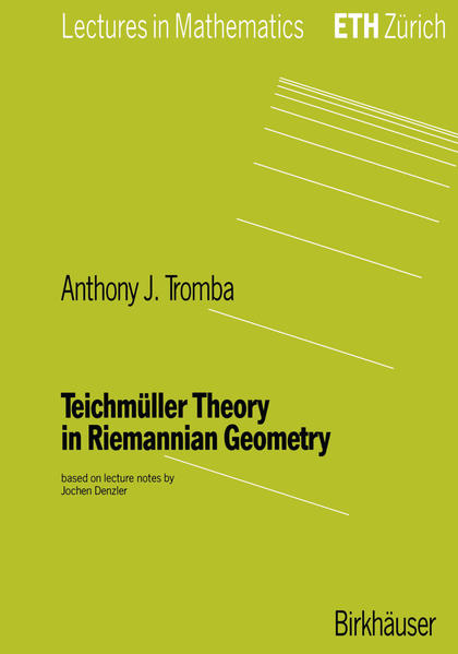 Teichmüller Theory in Riemannian Geometry - Coverbild