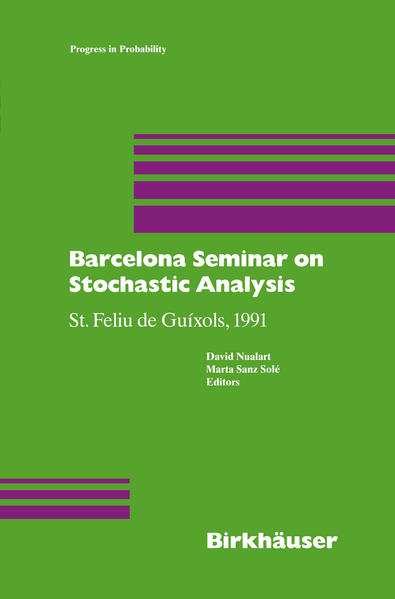 Barcelona Seminar on Stochastic Analysis - Coverbild