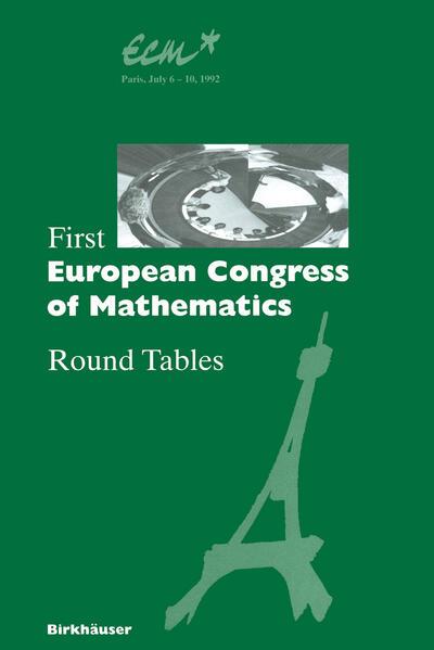 First European Congress of Mathematics - Coverbild