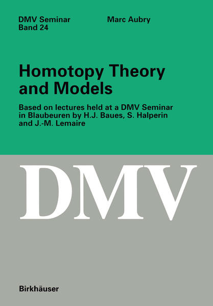 Homotopy Theory and Models - Coverbild