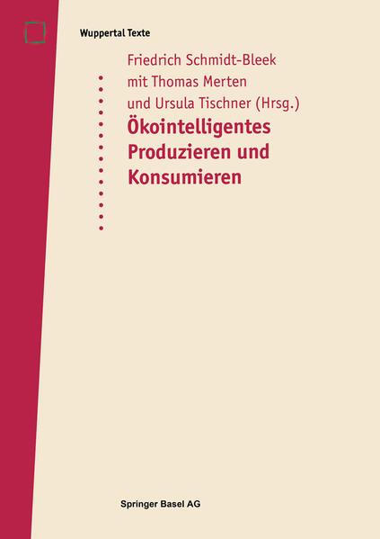 Öko-intelligentes Produzieren und Konsumieren - Coverbild