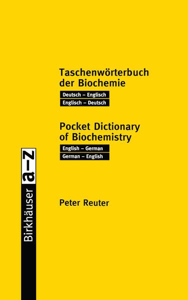 Taschenwörterbuch der Biochemie / Pocket Dictionary of Biochemistry - Coverbild