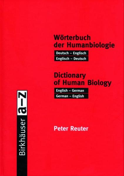 Wörterbuch der Humanbiologie / Dictionary of Human Biology - Coverbild